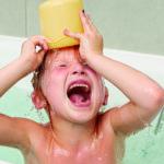 diversión en el baño